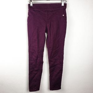 Justice | Girls Purple Mid Rise Legging Pants 10